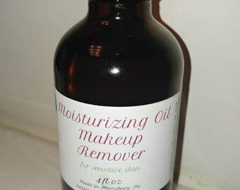Moisturizing Oil Makeup Remover for Sensitive Skin - 4oz (vegan)
