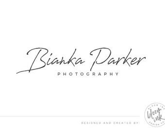 Signature logo design, Photography logo, Premade logo, Modern logo signature, Brand design, Business logo, Text only logo 003