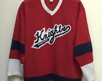 Vintage British Knights Hockey Jersey Rap Hip Hop