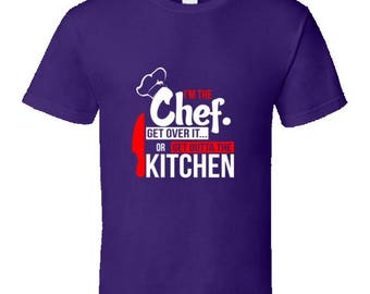 Funny cooking t shirt,chef t shirt,barbecue tshirt,funny dad t shirt,keep calm and bbq t shirt,camping t shirt,bbq king t shirt,I'm The Chef