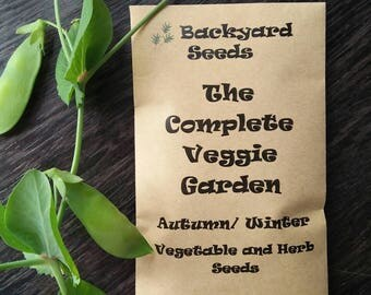 The Complete Veggie Garden, Autumn / Winter Vegetable and Herb Seed Mix