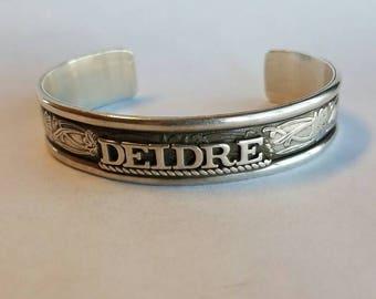 Womens Silver Name Bracelets