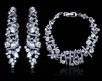 bride wedding jewelry set Ice Sparcles
