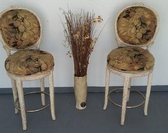 vintage italian swivel high end bar stools