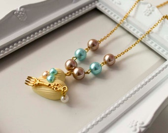 140 BonBon Chocolate Necklace, Lolita sweet cute kawaii fork tenedor pearl