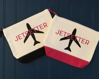 Jetsetter Multi-Use Cosmetic/Travel/Organizer Canvas Case