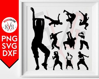Hip Hop Svg Breakdance Silhouette Break Dance svg cut files cricut silhouette studio cutting file vector designs vinyl cutter Clip art Png