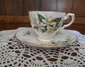 Tuscan China Bridal Flower Orange Blossom Tea Cup and Saucer (Espresso Size)