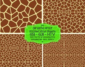 Giraffe Animal Print Vinyl/Printed Heat Transfer Vinyl/Patterned Vinyl/Printed 651 Vinyl/Printed 631 Vinyl/Printed Outdoor Vinyl/Printed HTV