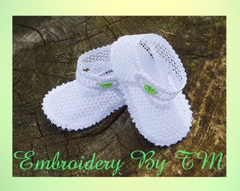 Baby booties lace (nub.24) / -Two kinds of soles