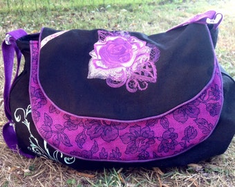 Pink fabric bag and Butterfly from Michael Miller