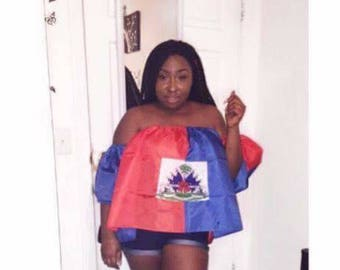 Haitian off shoulder top
