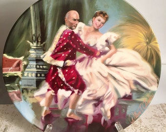 """Edwin M Knowles fine  China  """"Shall we Dance"""" from King and I  - 1985 authentic plate"""