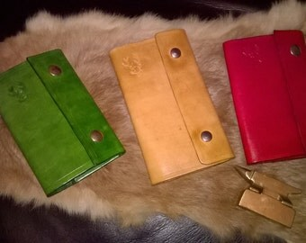 Small Hand made Real leather note book cover.