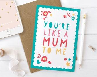 Mothers Day Card, Step Mum Card, Adoptive Mum Card, Mother-in-Law Card, Other Mother Card, Unique Mum Card, Card for Step Mum, Mother in Law