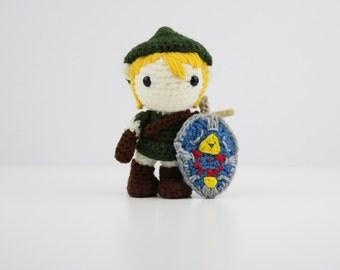 Made to Order - Kawaii Legend of Zelda Amigurumi Doll - Crochet - Link