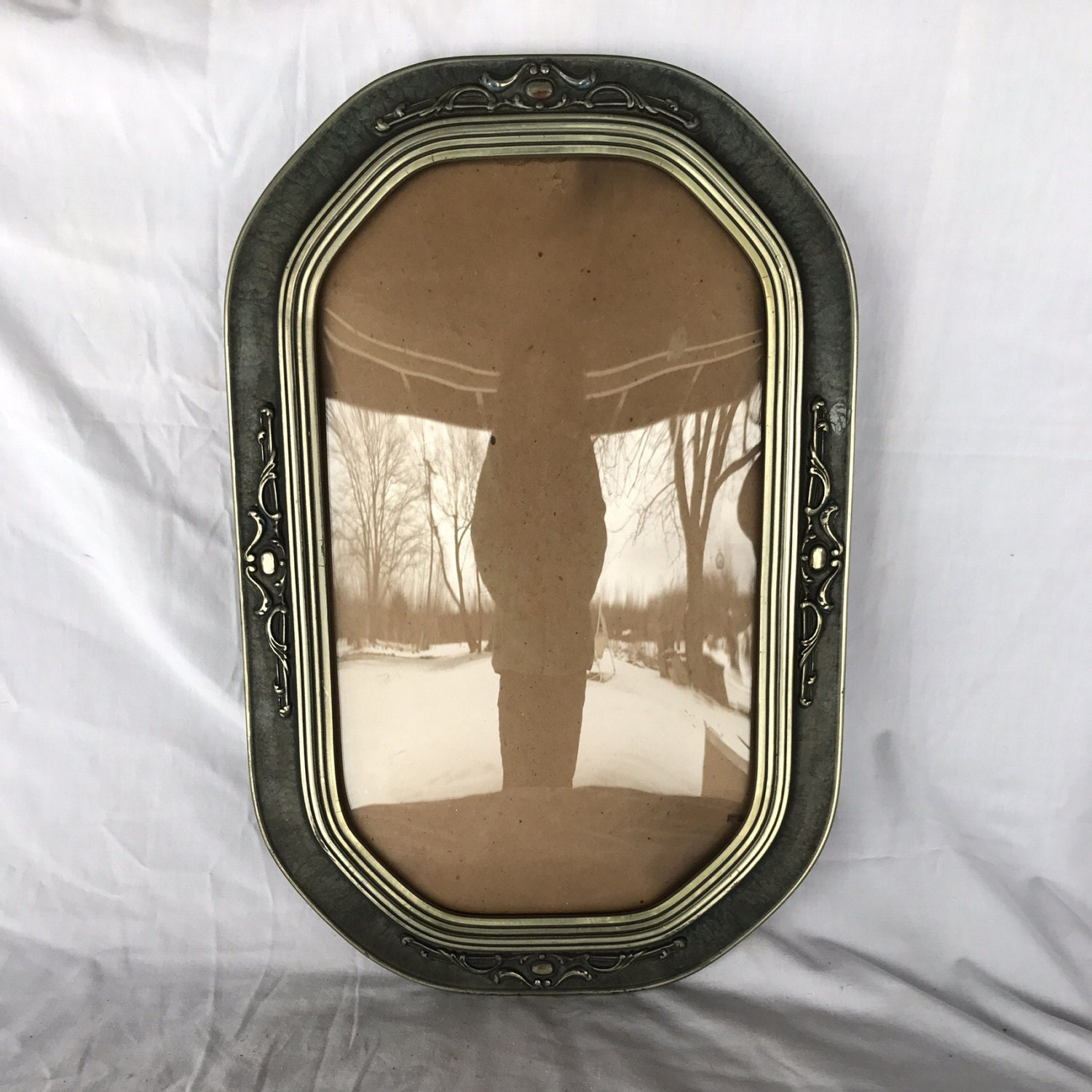 Convex frame antique convex glass bubble glass frame vintage sold by toesinthepond jeuxipadfo Image collections