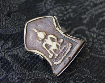 Thai Buddhist Amulet and Sterling Silver Brooch