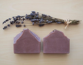 Lavender - All Natural Soap, Organic Soap, Handmade Soap, Cold Process Soap, Vegan Soap, Palm-Free Soap