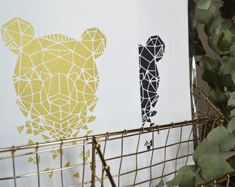 Poster print 21x30cm - Panda Zoorigami