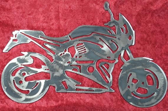 X1 Lighting, Street Racing Motorcycle, Street Racer, Street Motorcycle, Metal Motorcycle, Metal Art Decor, Buell Inspired, Biker Gift