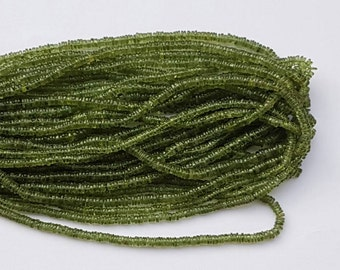 2 strands of GREEN APPATITE rondelle beads 4-5.5mm 8""