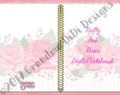 Pretty Pink Roses Deluxe Notebook for GoodNotes, Notability, Noteshelf 2