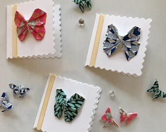 3 Mini Origami Butterfly Cards