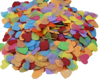 Multicolor Heart Confetti Colourful Party Decorations Outdoor Wedding Toss Confetti Propose Supplies Pack of 2 oz