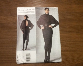 Vogue Pattern - Donna Karan - Size 4-10 - Factory Folded Uncut - V1202