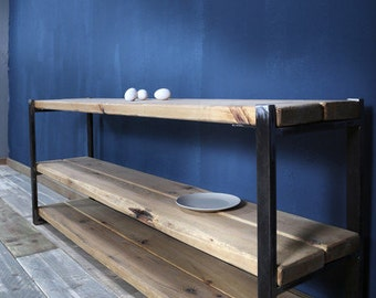 Sideboard industrial style, timber/iron Sammy 160 cm