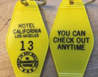 New Style! HOTEL CALIFORNIA Keytag