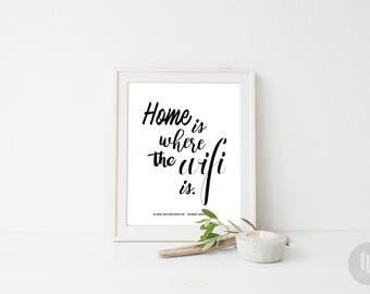 WIFI Password Printable Sign, Home Decor Sign, Home Decor Printable