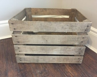Antique 1940's era large Apple Crate