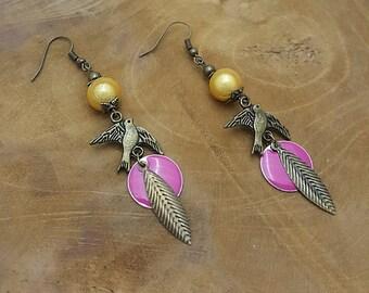 Earrings dangling fantasy