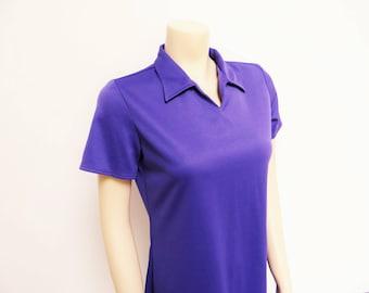 Purple Mini Dress, UK12, Retro Dress, Purple, Festival Dress, Vintage Clothing, Tennis, Mini Dress, Clothing, Ladies Dresses