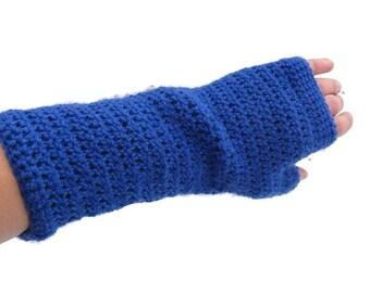 Crochet Fingerless Gloves, Cycling Gloves, Fingerless Gloves, Arm Warmers, Long Hand Warmers, 100% Wool, Gift For Her