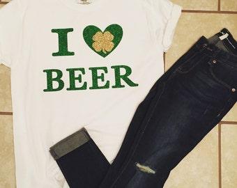 I Love Beer Ladies Shirt