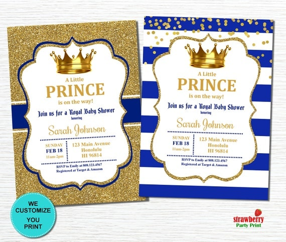 Royal Prince Baby Shower Invitations Prince Baby Shower Invitation Royal  Invi On Red Gold Prince Baby