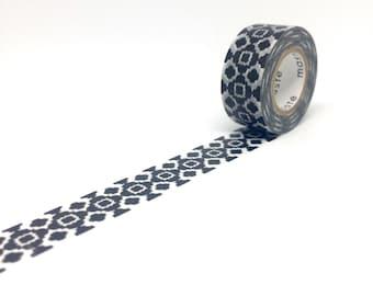 Bohemian Damask Black and White Washi Tape by Masté