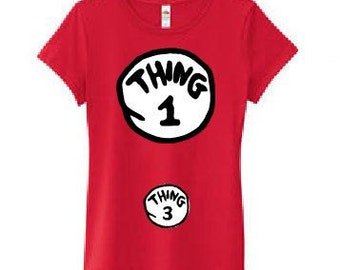 MATERNITY Dr seuss 'cat in the hat'  Thing 3 t-shirt / top