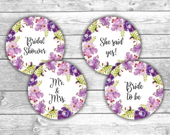 DIGITAL FILE - Cupcake Toppers - Bridal Shower - Floral 2, Printable, Games, Activities, Flower Design, Floral