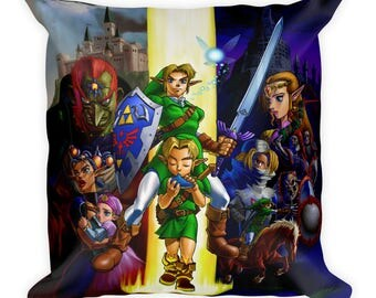 The Legend of Zelda: Ocarina of Time Cast Pillow