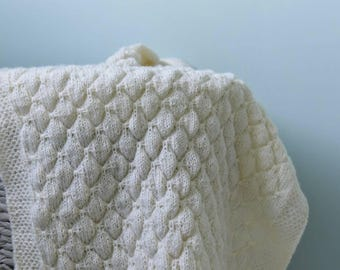 Made to Order hand knitted baby blanket
