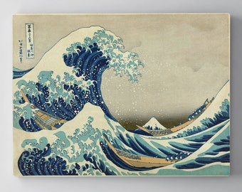 The Great Wave, The Great Wave Off Kanagawa, Katsushika Hokusai, The Great Wave Print, The Great Wave Canvas, The Great Wave Giclee, 196
