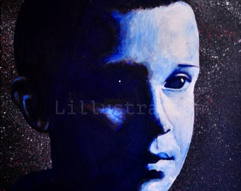 Eleven Stranger Things Painting  or Print