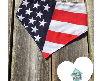 American Flag Dog Bandana | Fourth of July Dog Bandana***