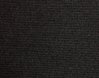 Black Double Knit Fabric