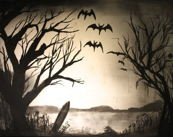 Dead trees and bats
