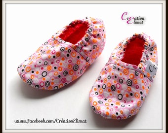Baby Bootie 6-12 months // Baby slippers // Crib shoes // Reversible